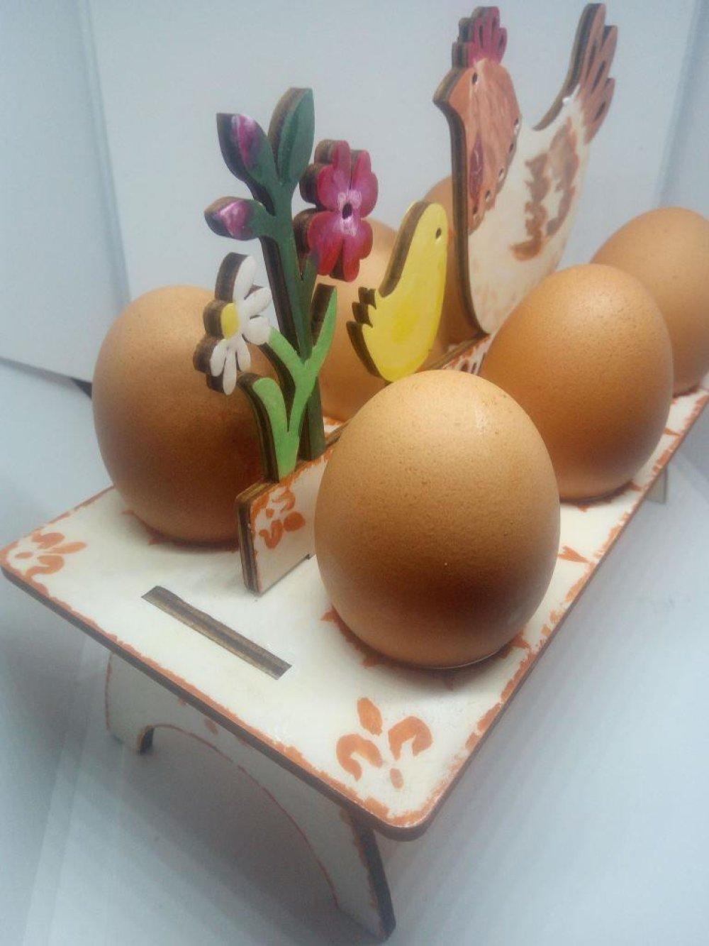 Centre de table coquetier pour 6 œufs (DP_005)