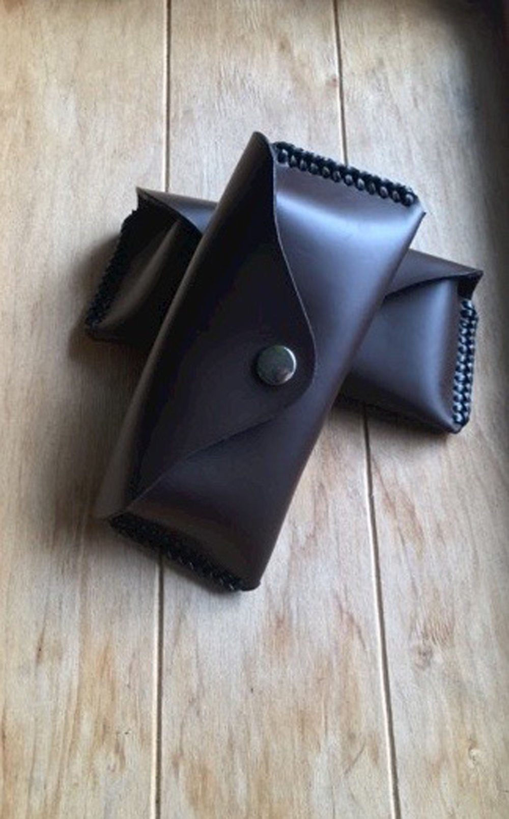 Etui à lunettes rigide en cuir fabrication fait-main