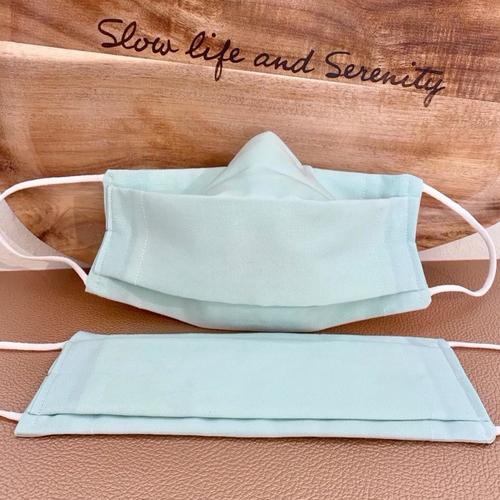 2 masques bio type afnor coton avec filtre inclus bio source, lavable, élastique doux, pince-nez, menthe