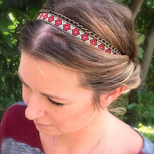 Headband bijoux de tête, accessoire cheveux bandeau ethnique