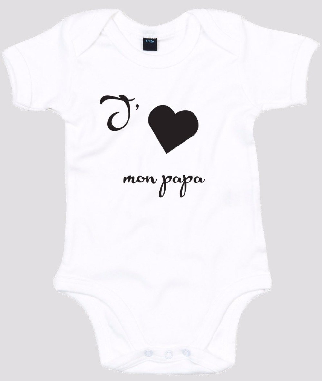 """Body bébé personnalisé """" j'aime papa """""""