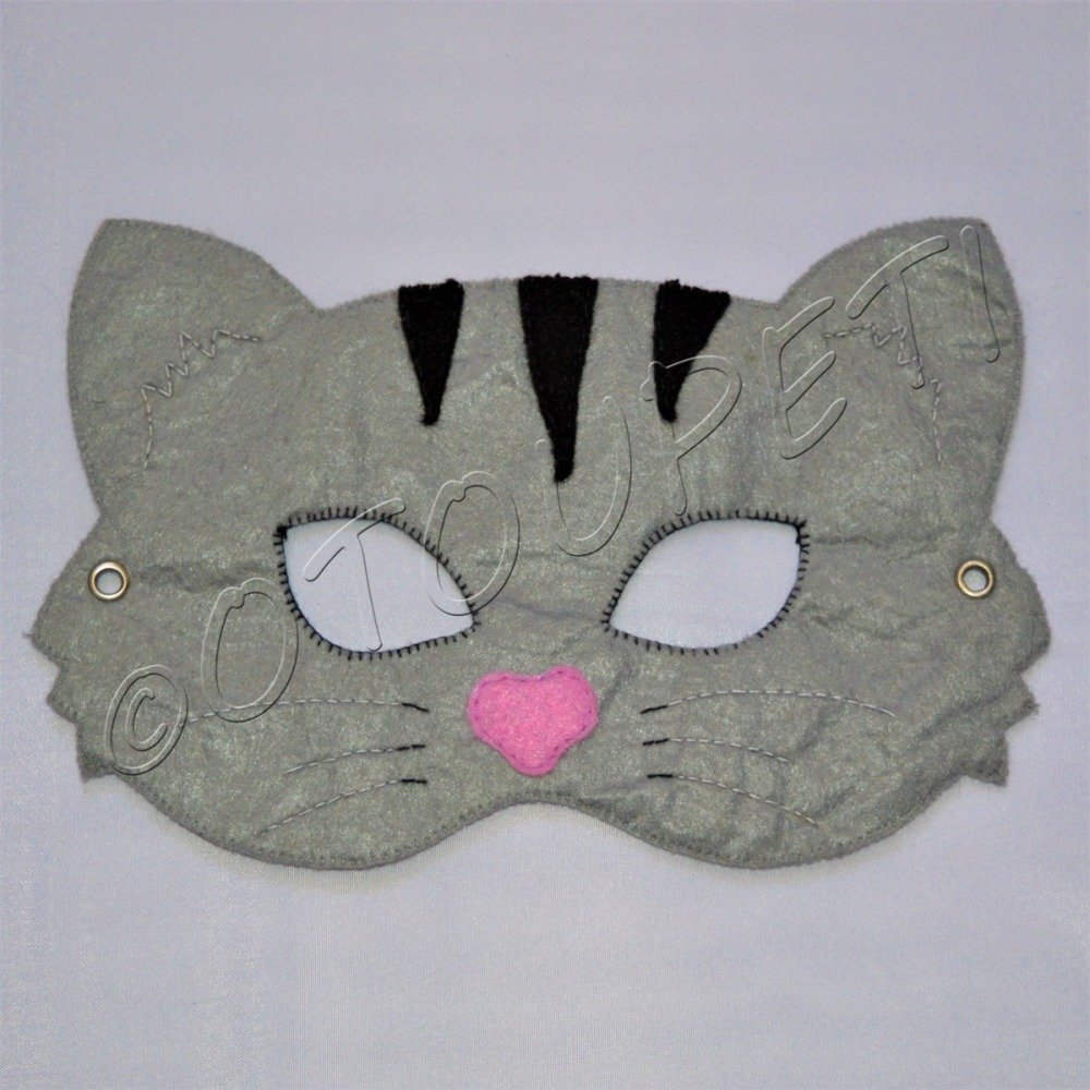 "1 Masque en feutrine "" chat """