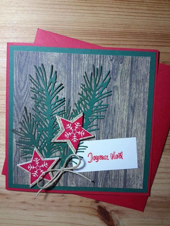 Carte de Noël sur fond de bois