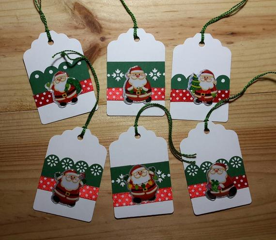 Lot de 6 étiquettes pour cadeaux de Noël