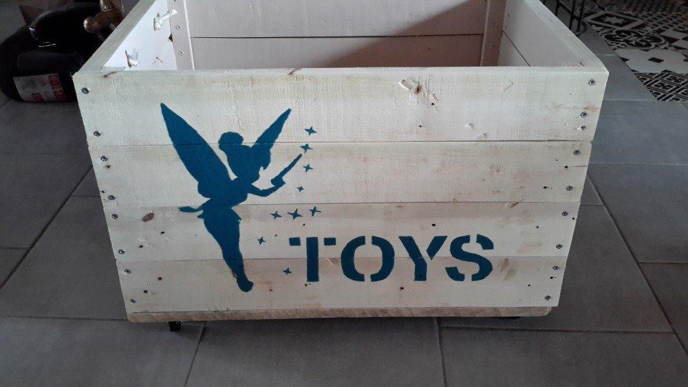 Coffre à jouets en bois de palette.