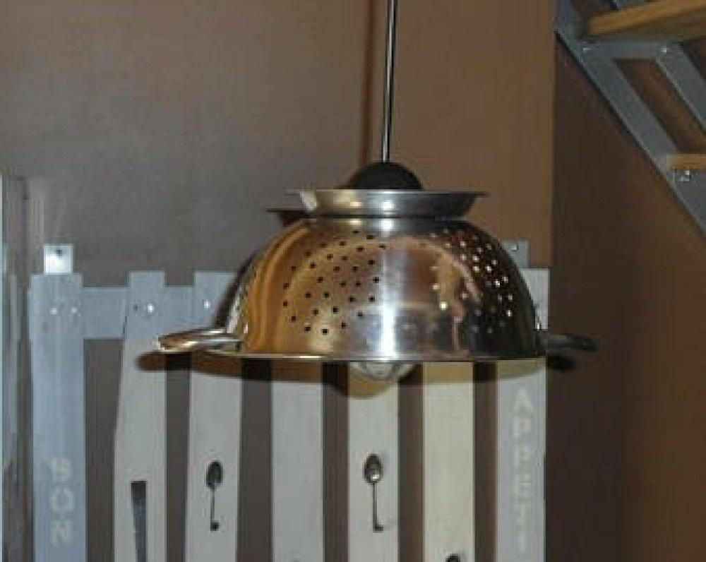 luminaire de cuisine passoire