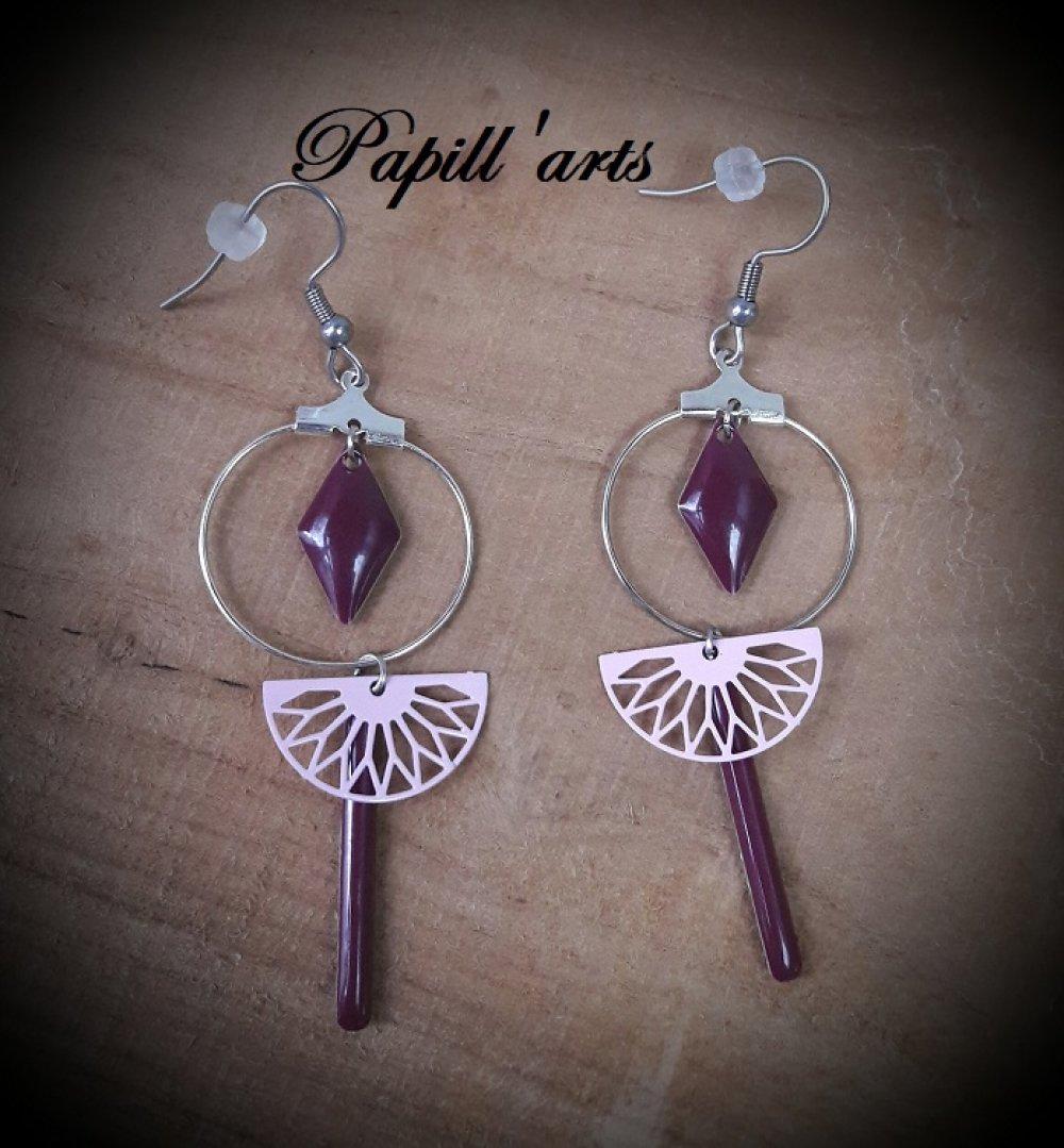 créole rose et violet foncé