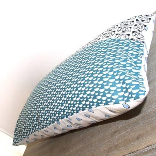 Housse de coussin 30 x 50 cm, taie d'oreiller, patchwork de tissu imprimés panda, ours, origami, graphique, noir, vert clair,