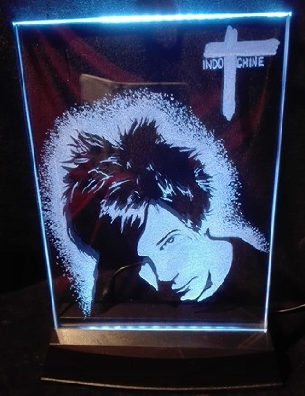 Gravure sur verre Cadre Lumineux  Indochine