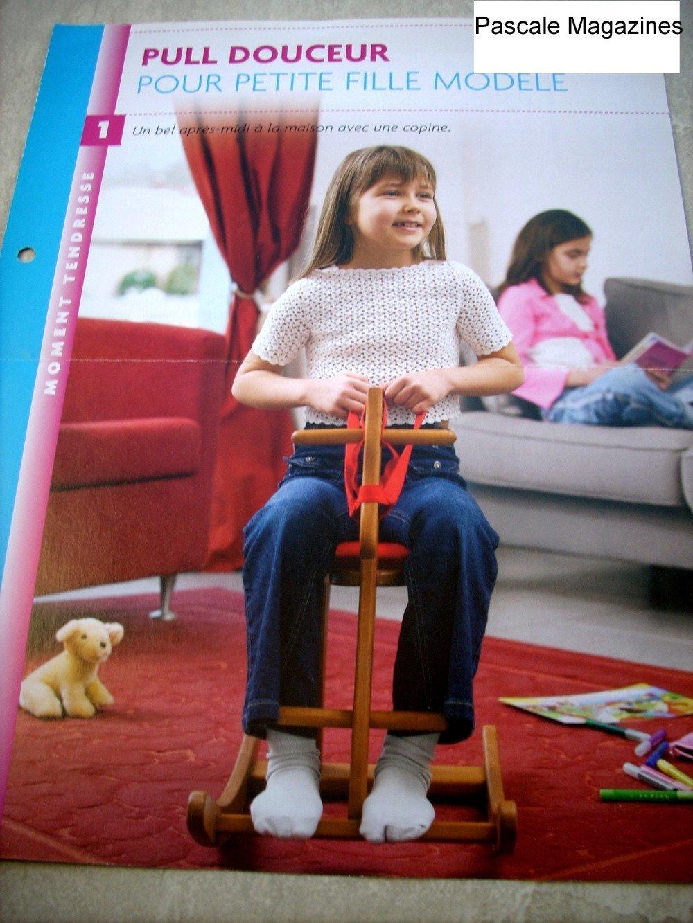 Fiche éditions Atlas n°1  pull crochet fillette    -  Livraison offerte  -