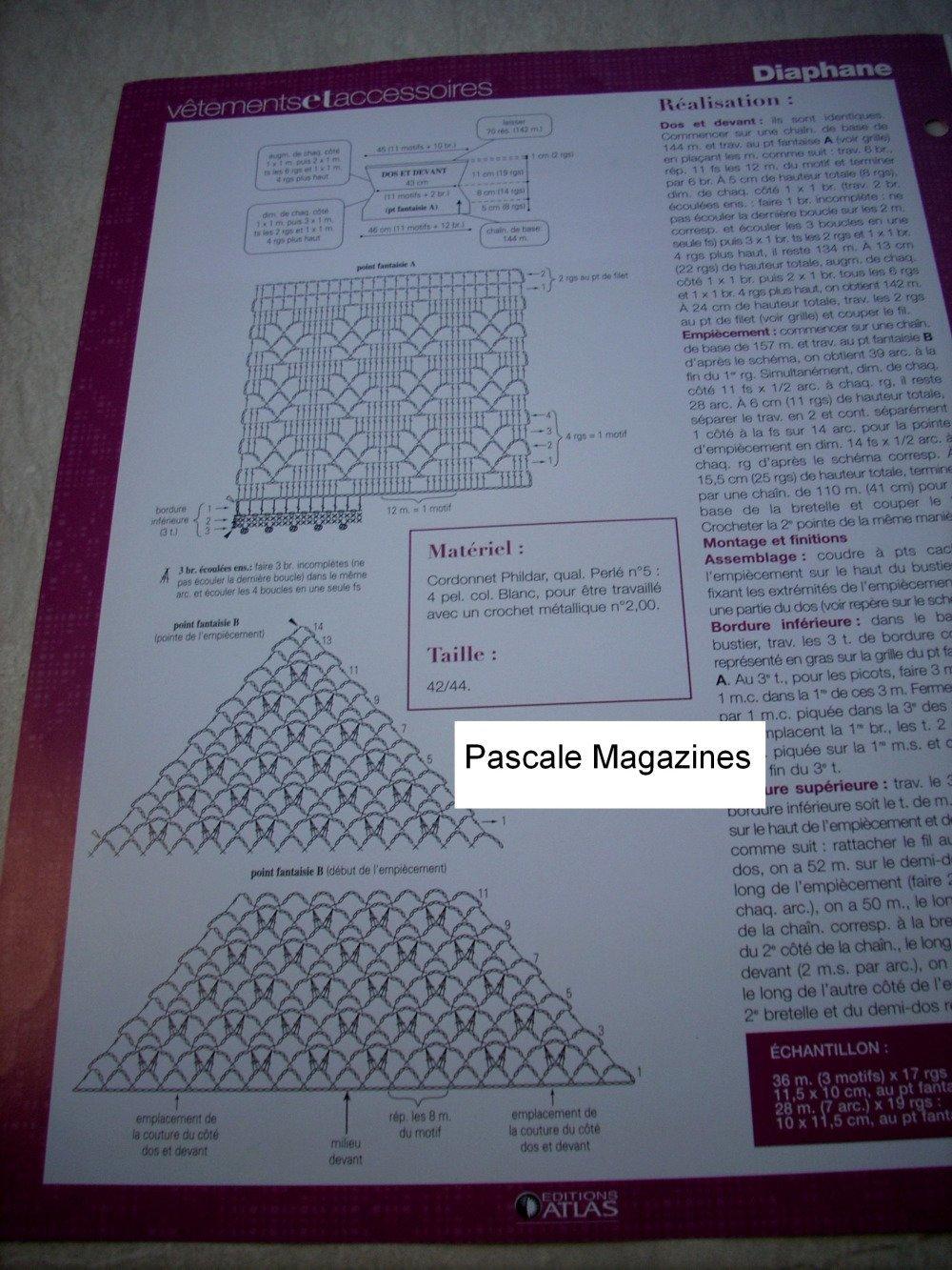 Fiche éditions Atlas vêtements n°59     -  Livraison offerte  -