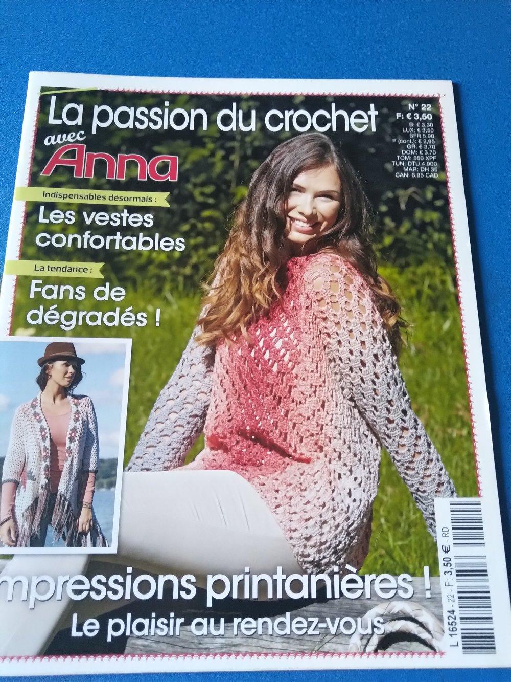 La passion du crochet avec Anna n°22 - Livraison offerte -