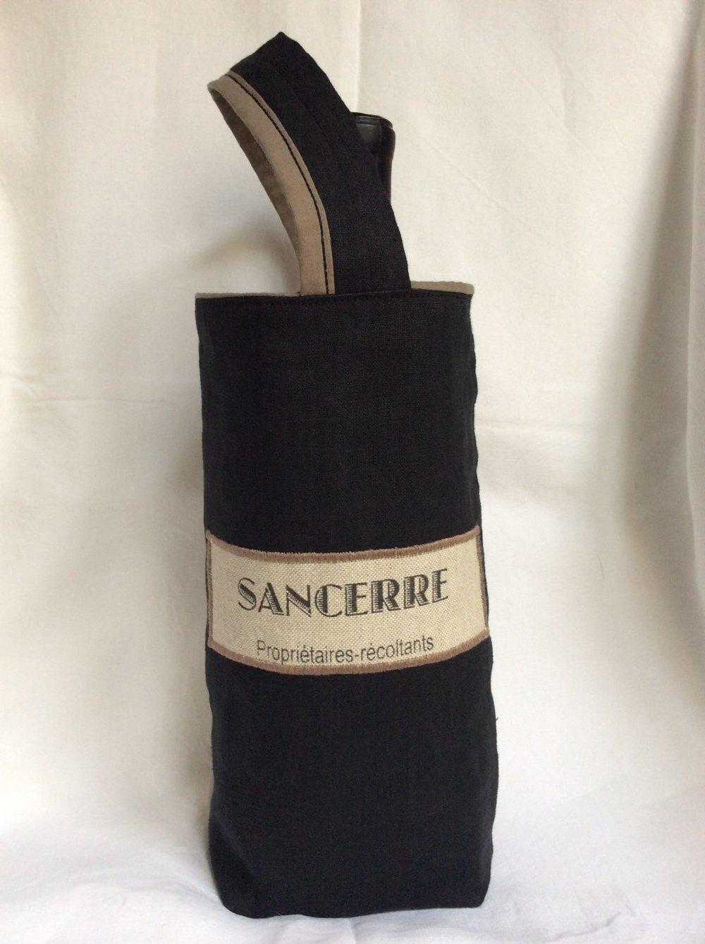 Sac à bouteille en lin 25x17 cm