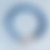 Bracelet kumihimo bleu