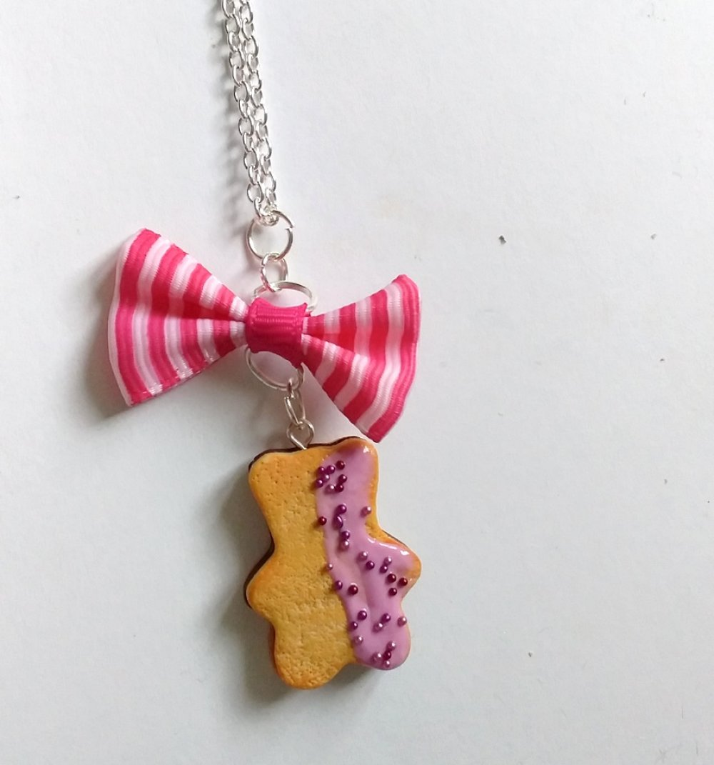 Collier biscuit nounours