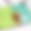 Plaque de porte girafe bleu
