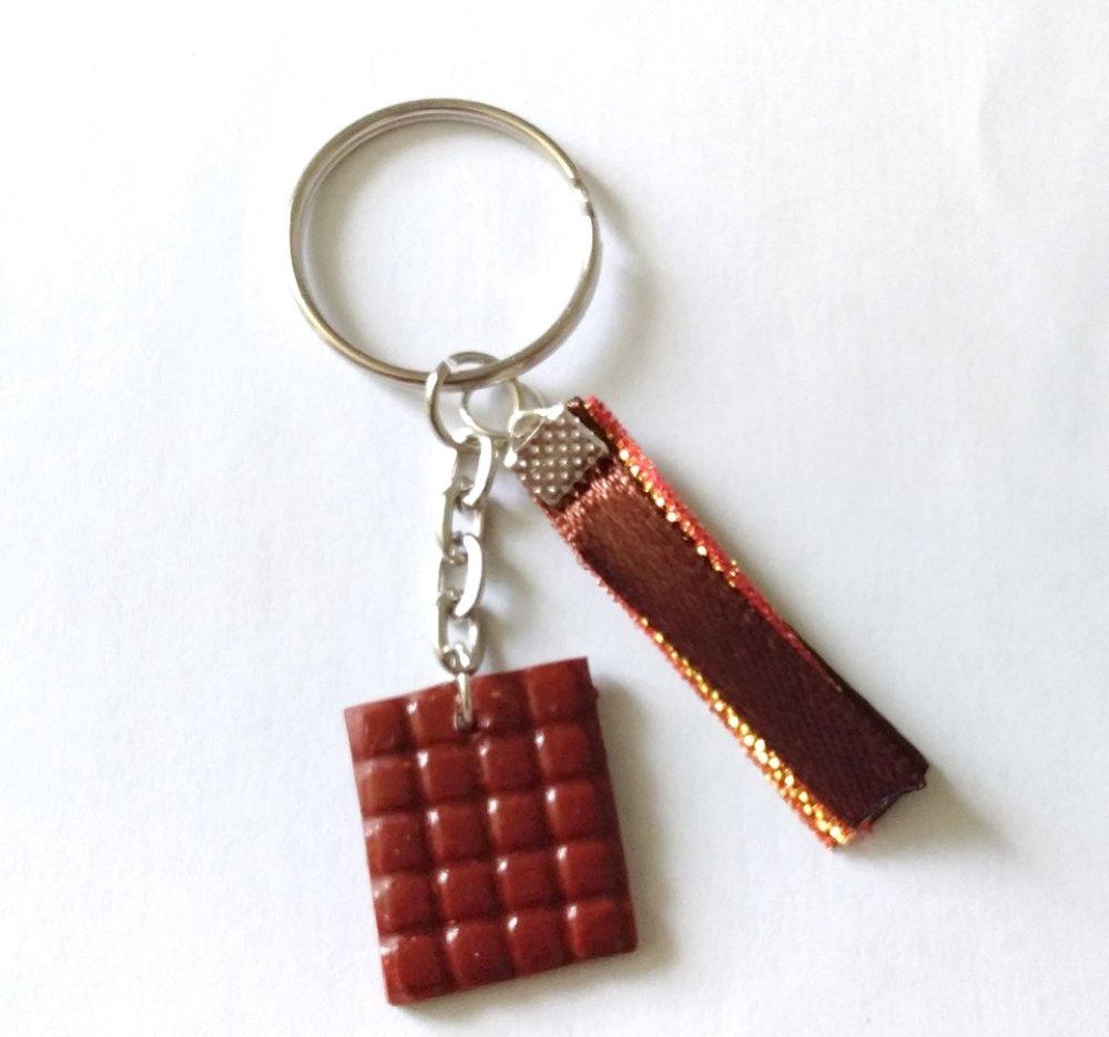 Porte clés tablette chocolat
