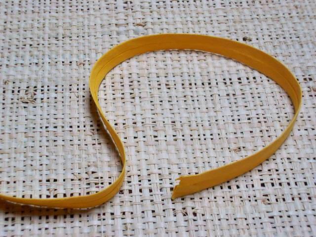 Biais uni jaune 12mm coton