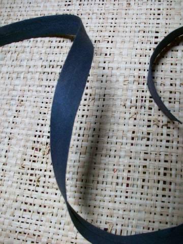 Biais uni gris foncé 12mm coton