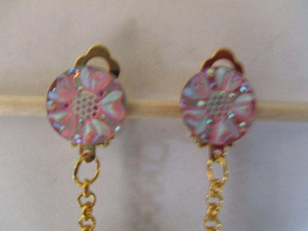 Boucles d'oreilles clip pendantes