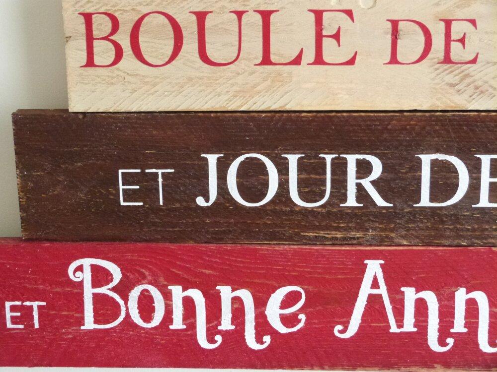 Décoration de Noêl Noel en bois personnalisable. . Décoration personnalisée. French Christmas decoration
