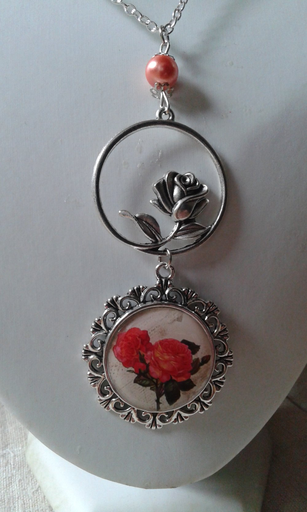 """collier """"roses"""""""