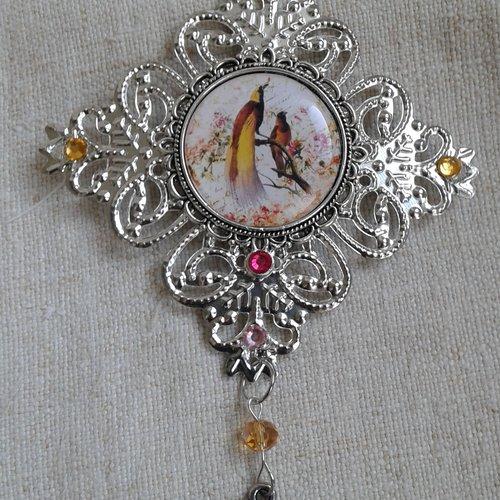 """Broche """"oiseaux de paradis"""""""