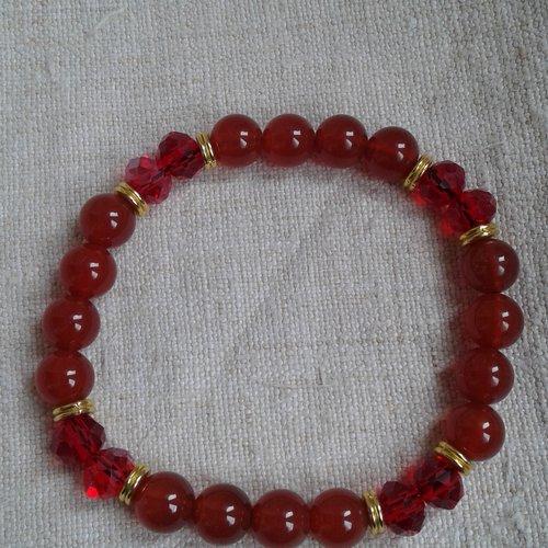 "Bracelet ""agate rouge"""