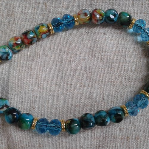 "Bracelet ""perles marbrées"""