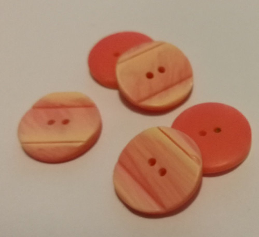 Bouton rose clair dégradé 24 mm