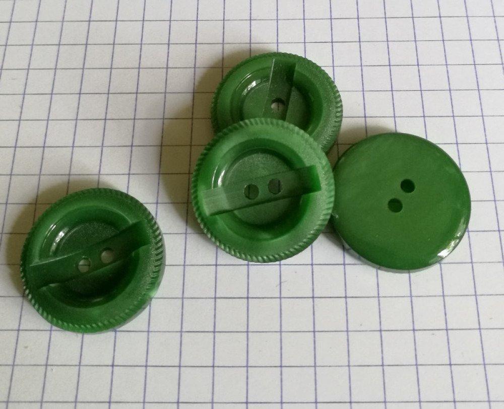 bouton plastique vert 22 mm