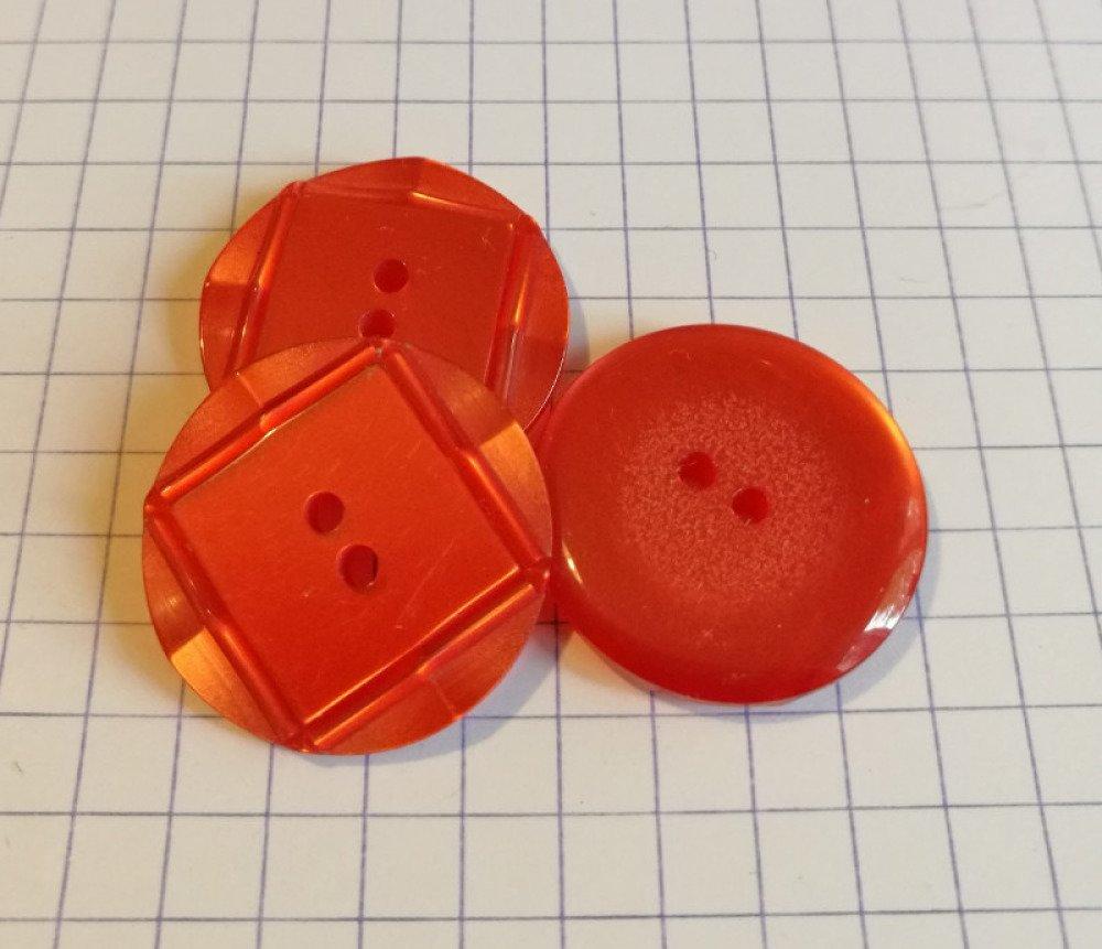 Boutons plastique rouge 22 mm