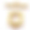 1 fermoir en t toggle carré en métal doré