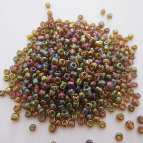lot 20g perles de rocaille 4mm VERT TRANSPARENT ////15