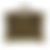 1 breloque voyage valise, bagage en métal bronze 16x14 mm