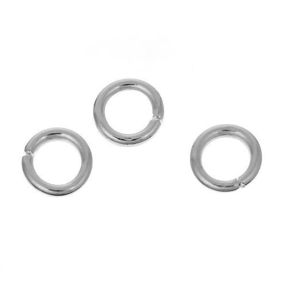 lot de 50 anneaux de jonction en métal argenté 5x0.7mm