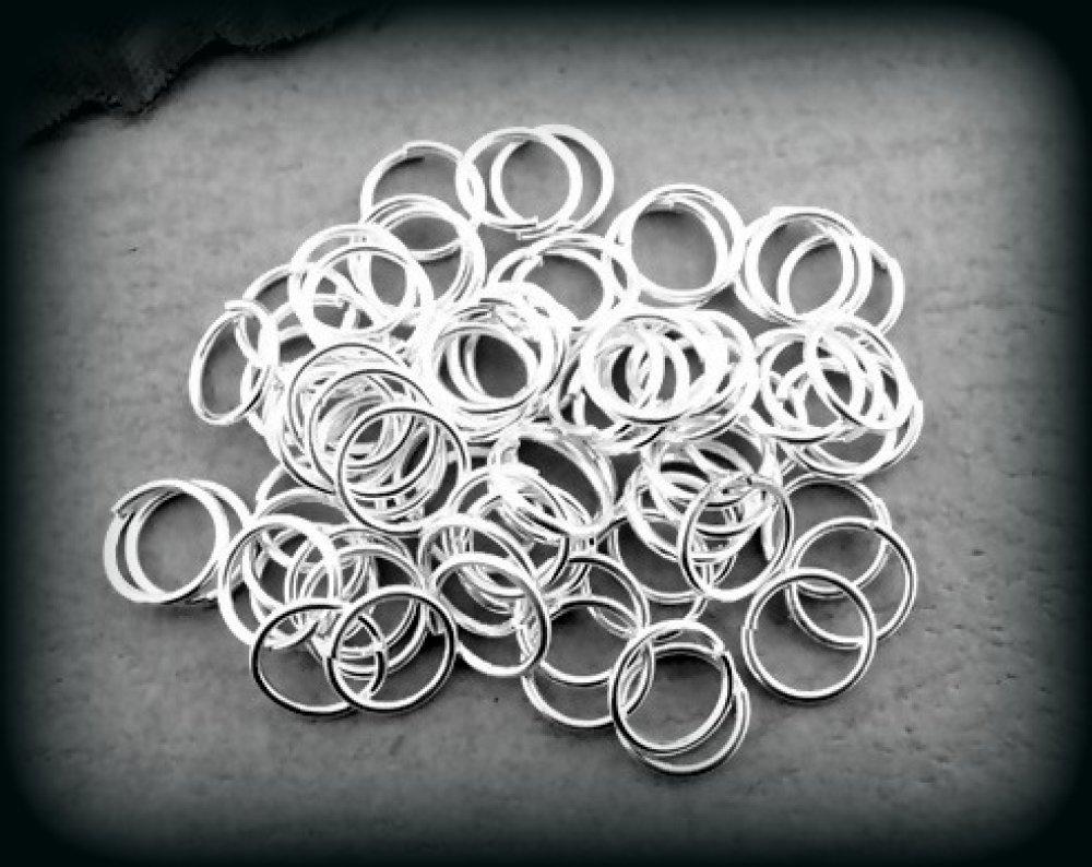 lot de 10 anneaux de jonction en métal argenté clair 7mm