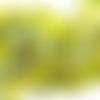 Lot de 100 perles à facette en verre, forme toupie, losange, jaune avec reflets, 4x4mm