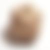 1 grosse perles carré à facette en bois naturel beige 20mm diamètre de la  perle 20mm