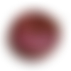 1 pendentif en forme de ronde en verre, marron, rose fuchsia, bélière métal argenté 35x30mm