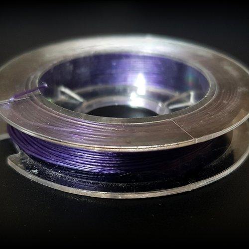1 bobine de 9 mètre fil en acier bleu foncé métal acier dia 0.45mm