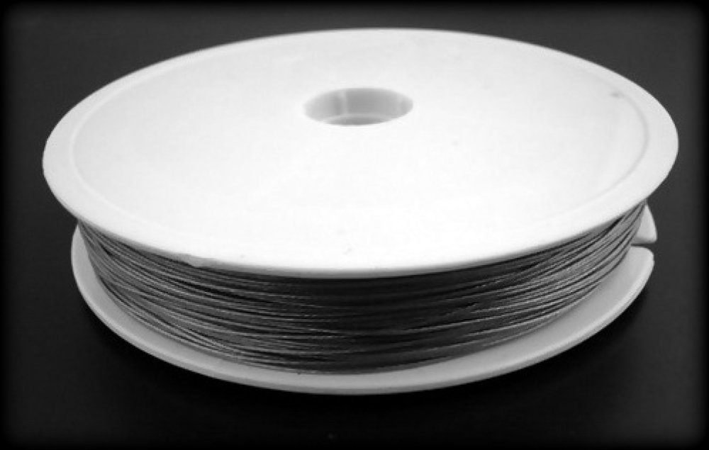 1 bobine fil/cordon Rouleau 50M Fil d'Acier 0.45mm