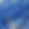 1 perle à facette en verre soucoupe bleu clair avec reflets translucide 6x8mm