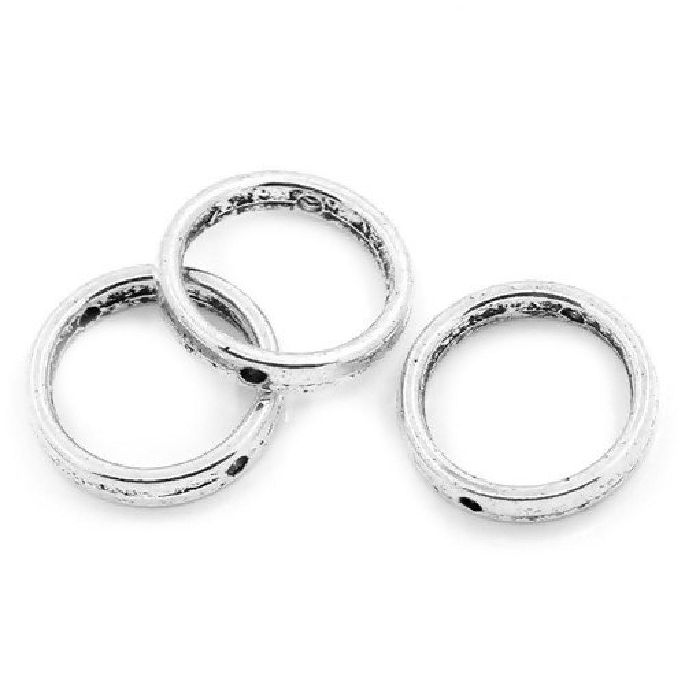1 cadre à perle ronde métal argenté métal argenté 19mm