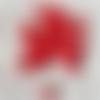 1 perle en céramique ronde émail rouge en céramique 6mm