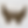 1 breloque, pendentif papillon animaux insecte en métal bronze 54x45mm