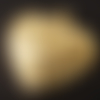 1 breloque pendentif cœur, métal doré 20x20mm