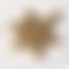 1 breloque pendentif flocon de noel en métal doré 23x20mm