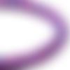 1 perle en verre rond lisse violet, rose, bleu, moucheté 8mm
