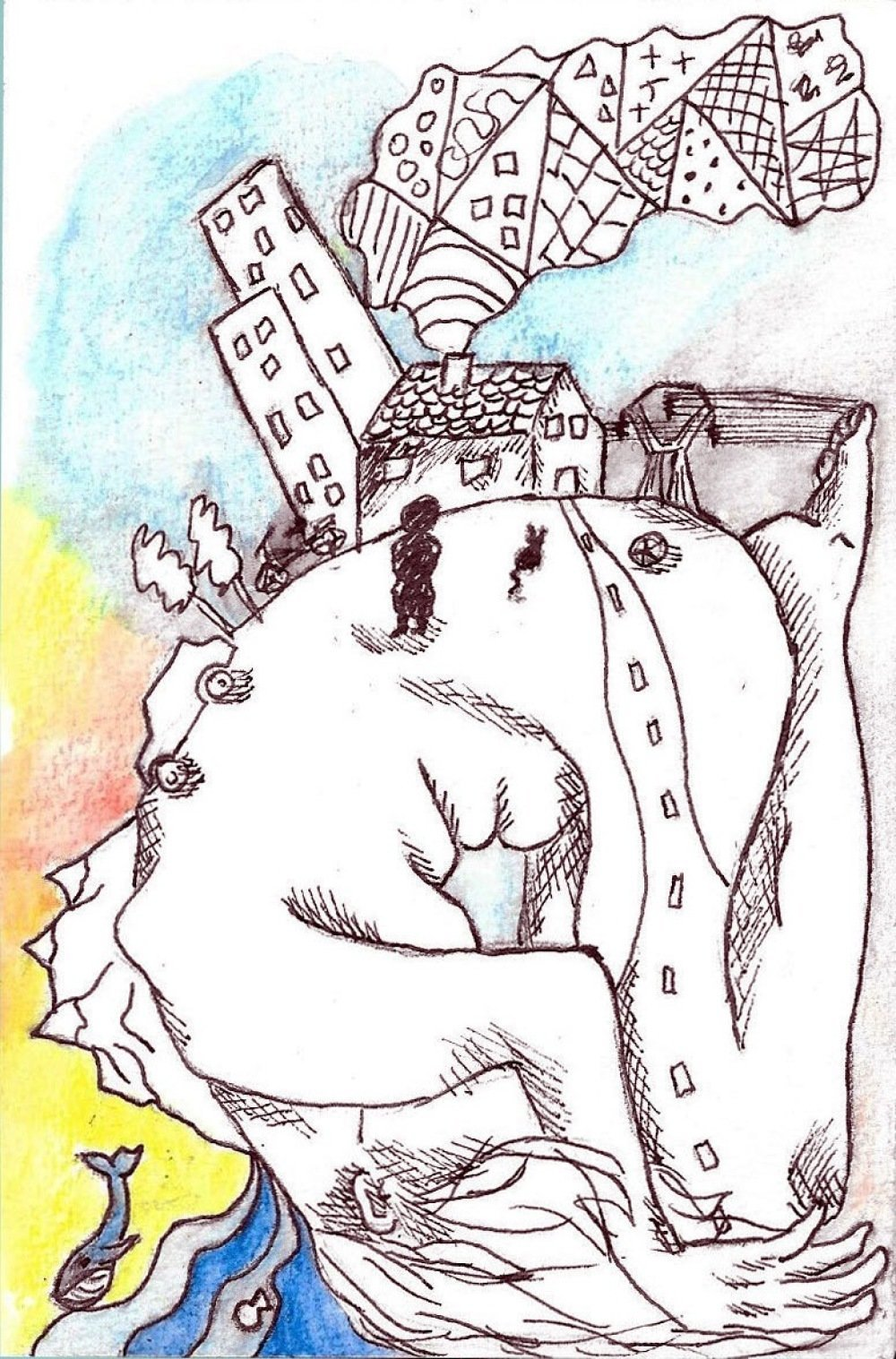 Carte postale, Illustration